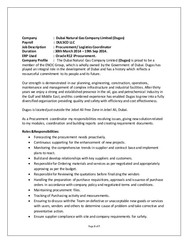 3 - Procurement Resume