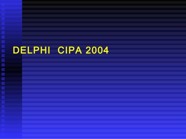 DELPHI CIPA 2004