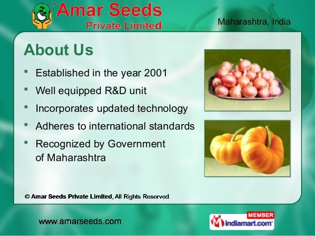 Maharashtra, IndiaAbout Us Established in the year 2001 Well equipped R&D unit Incorporates updated technology Adheres...