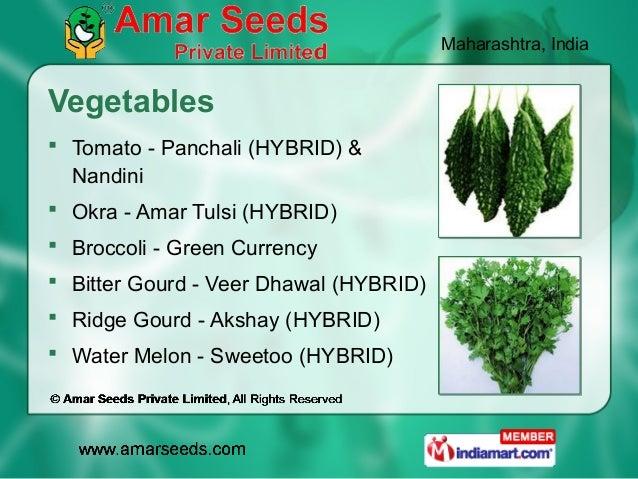 Maharashtra, IndiaVegetables Tomato - Panchali (HYBRID) &  Nandini Okra - Amar Tulsi (HYBRID) Broccoli - Green Currency...