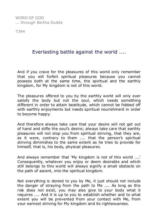 7344 Everlasting battle against the world