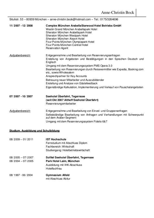 Anne-Christin Bock Situlistr. 53 – 80939 München – anne-christin.bock@hotmail.com – Tel.: 0175/3264696 11/ 2007 - 12/ 2008...