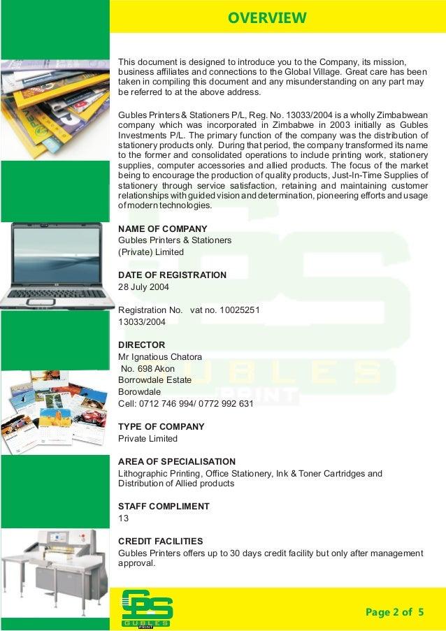GUBLES  company profile  Slide 2