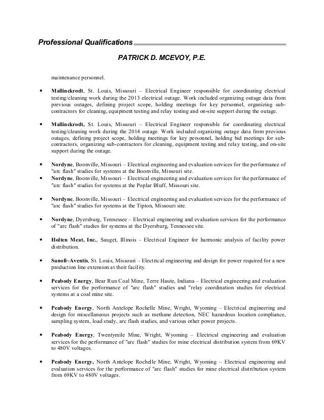 boilerplate resume pdm 15027
