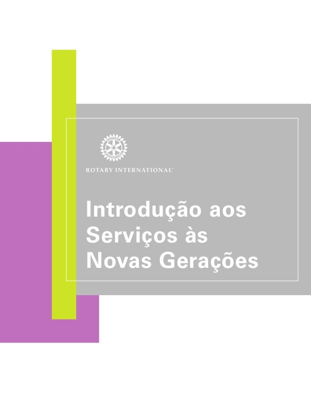 Introdução aos  Serviços às  Novas Gerações