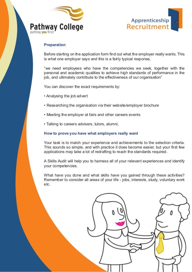 2 preparation before starting on the application form