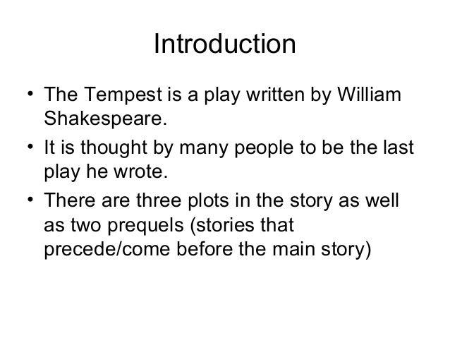 The Tempest  Slide 2