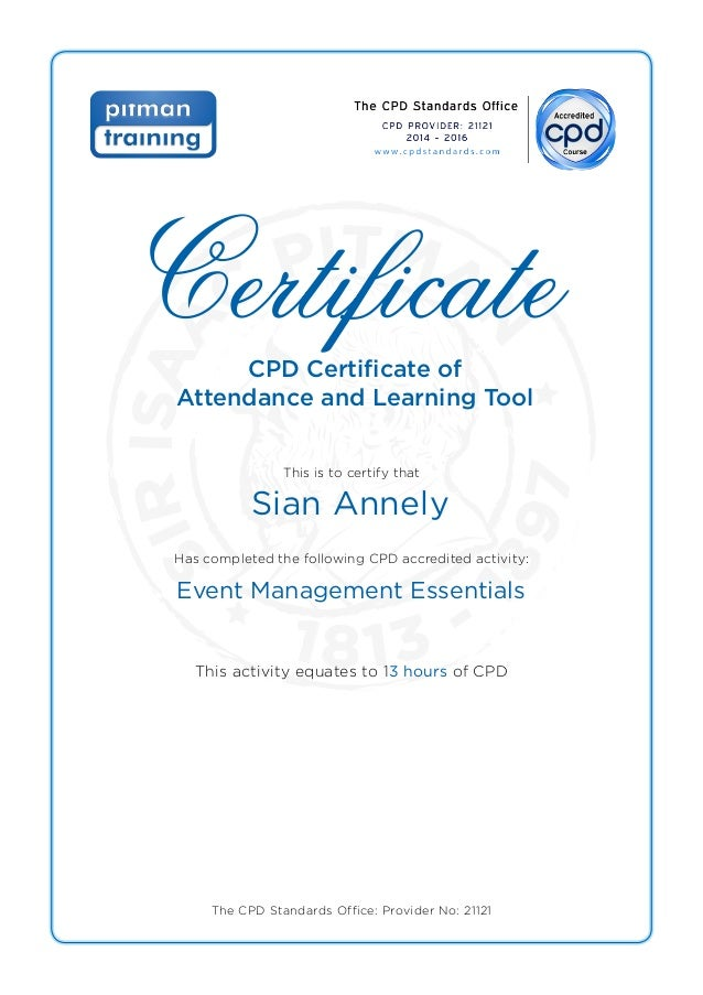 Sian Annely Event Management Essentials