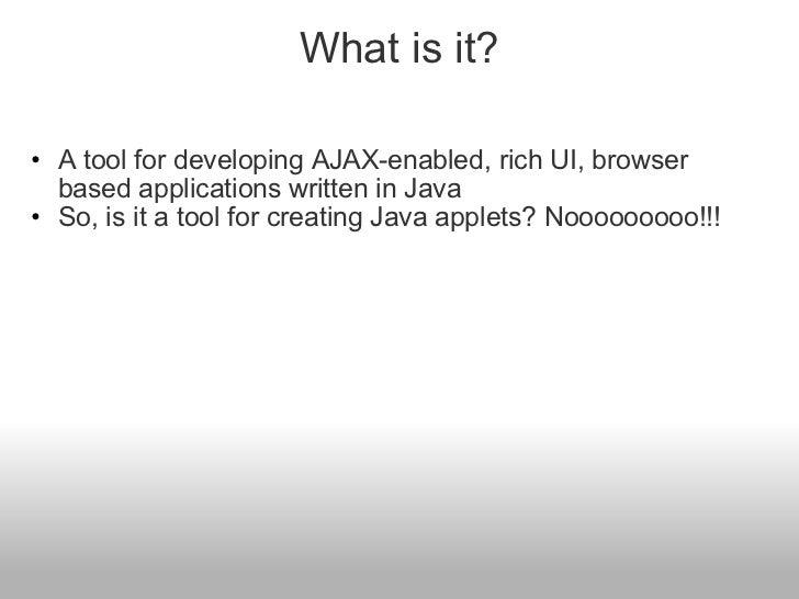 Google Web Toolkit Slide 2
