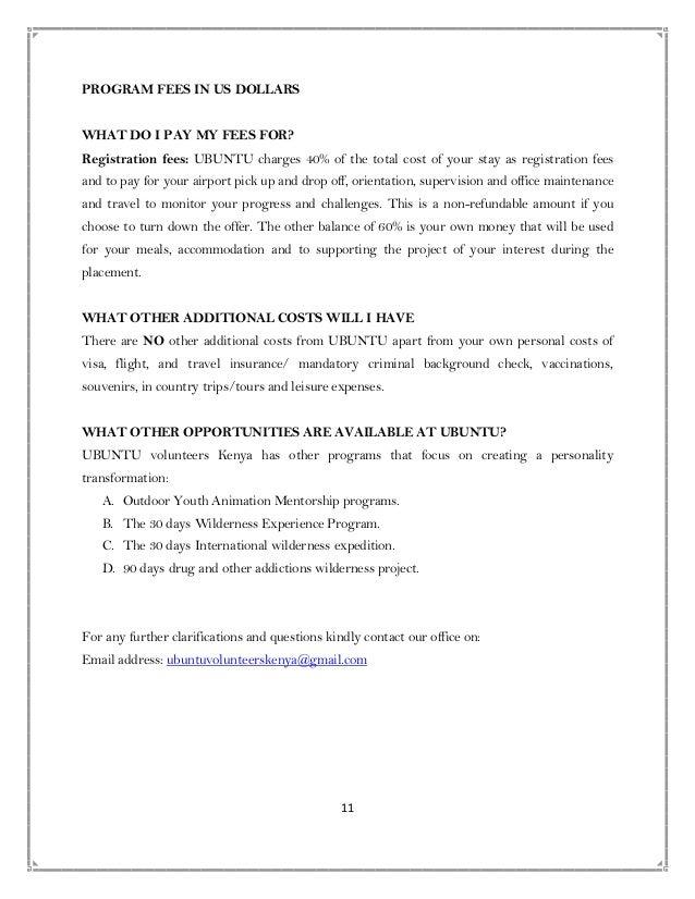 Profile for ubuntu volunteer kenya pdf 11 spiritdancerdesigns Images