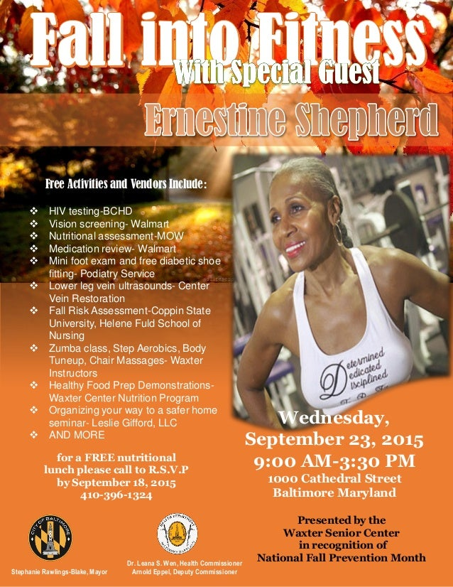 Fall Into Fitness Flyer
