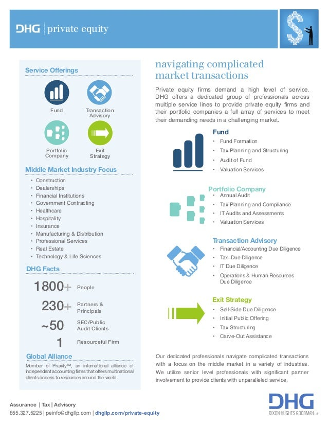 navigating complicated market transactions Assurance | Tax | Advisory 855.327.5225 | peinfo@dhgllp.com | dhgllp.com/privat...