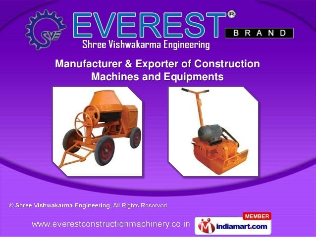 Manufacturer & Exporter of Construction      Machines and Equipments