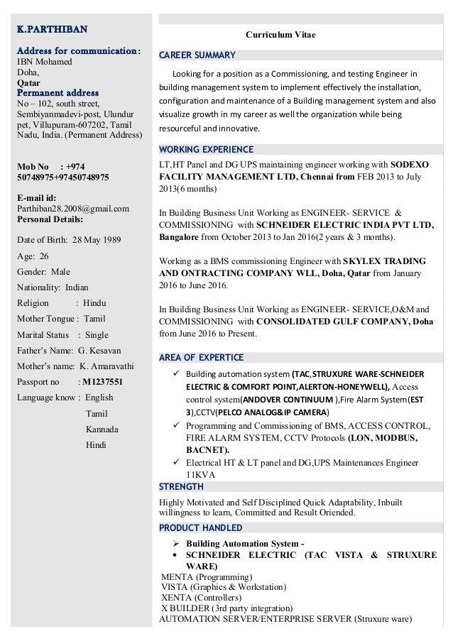 parthiban update resume