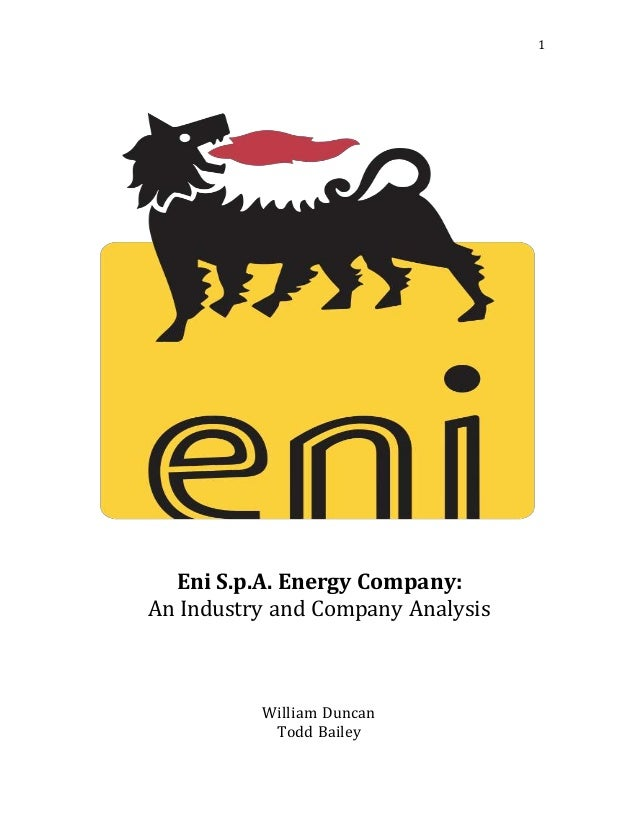 Analysis of eni