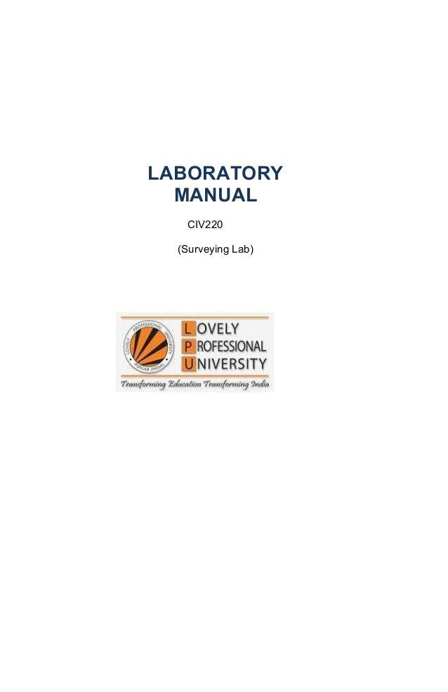 LABORATORY  MANUAL   CIV220  (Surveying Lab)