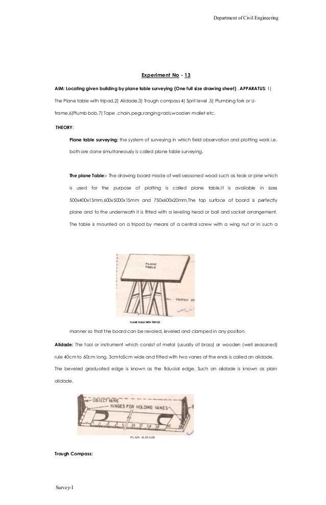 73941338 surveying lab manual 1 rh slideshare net Construction Surveying Civil Surveying Table