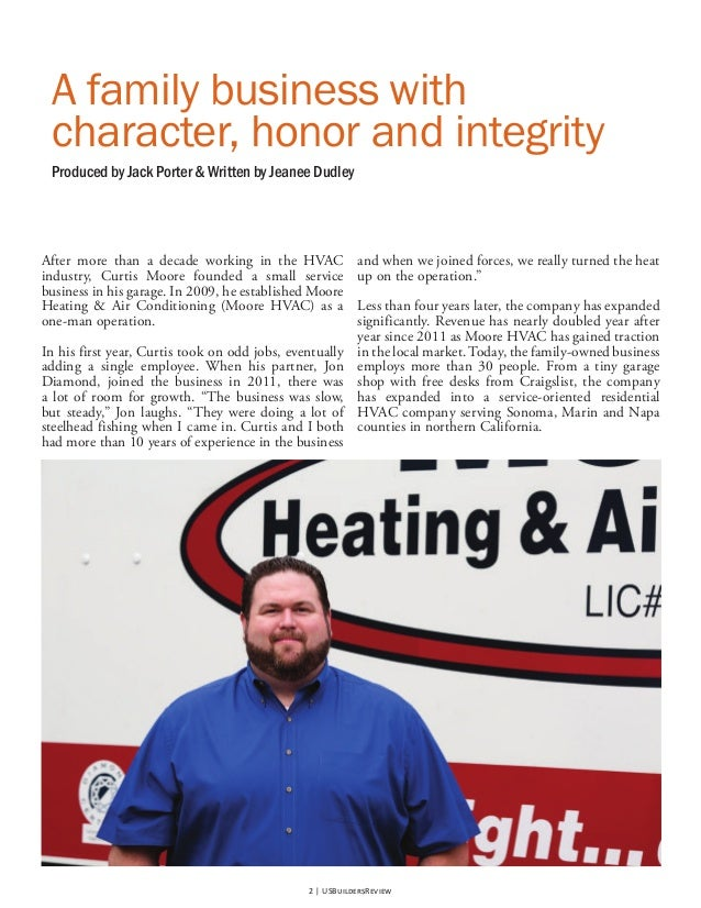 Moore HVAC's article has been published in the Winter III ...