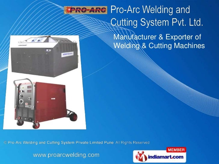 Manufacturer & Exporter ofWelding & Cutting Machines