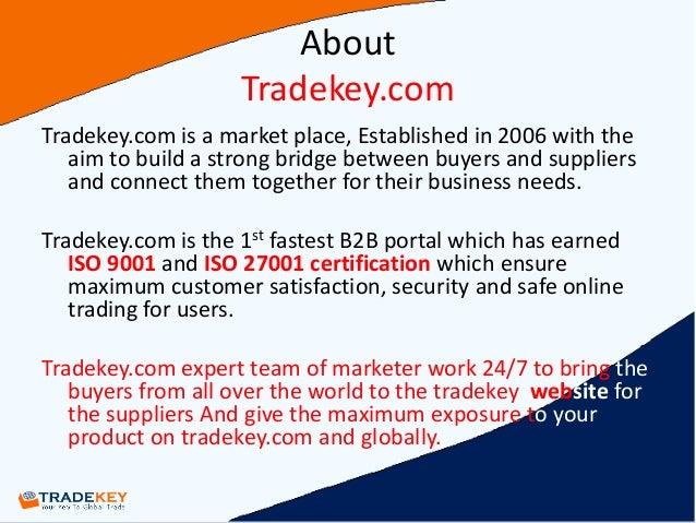 Tradekey Presentation by tariq PDF New