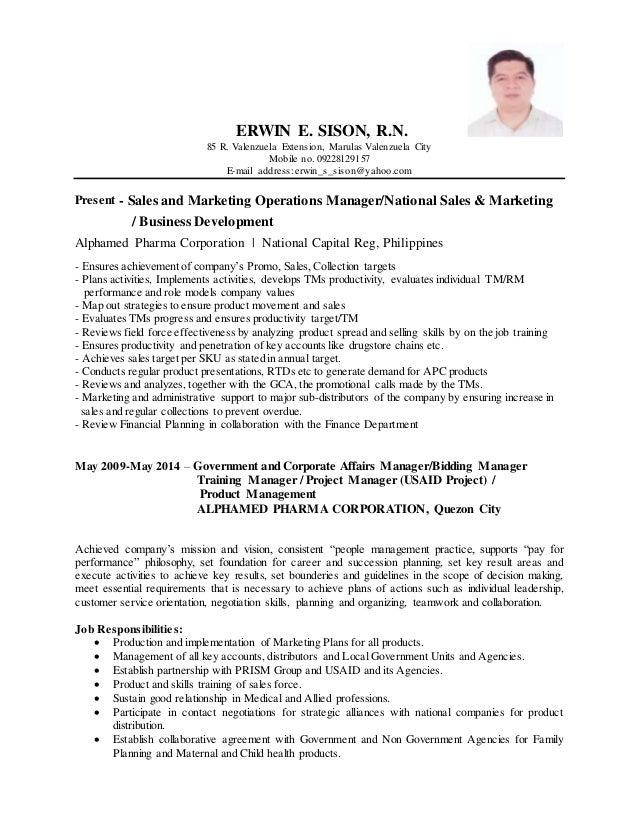 ERWIN E. SISON, R.N. 85 R. Valenzuela Extension, Marulas Valenzuela City Mobile no. 09228129157 E-mail address:erwin_s_sis...