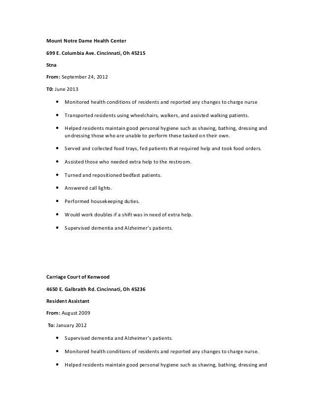 Best Stna Resume Images - Simple resume Office Templates - jameze.com