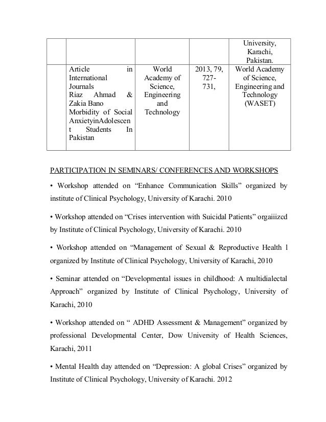Examples of clinical psychology cv | Writing And Editing
