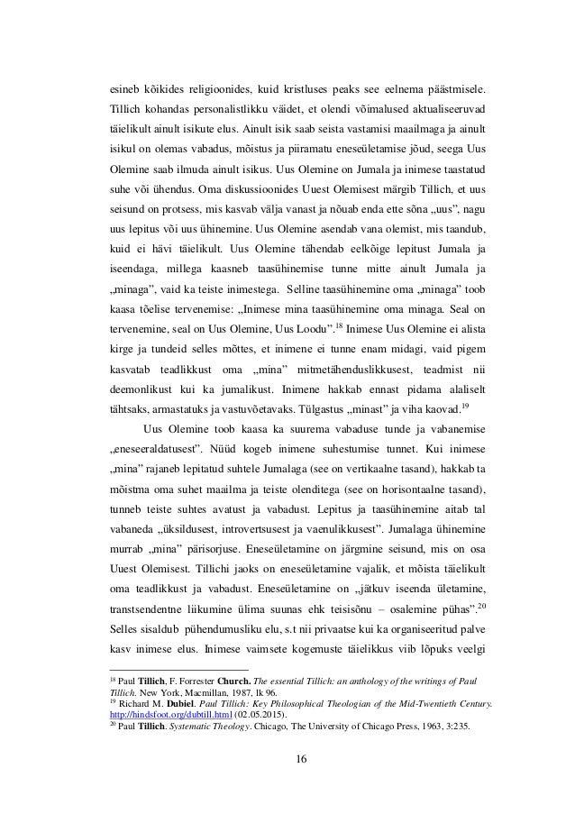 freud and tillich Chapter 2: sigmund freud and psychoanalysis  freud ' s influence on perls  16  existentialism and phenomenology (heidegger, buber, tillich, nietzsche,.