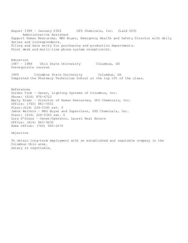 resume update in word 2015