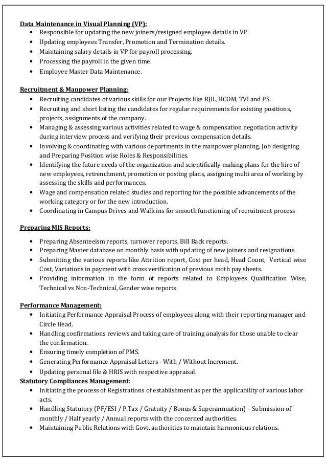 Updated Resume Slide 2