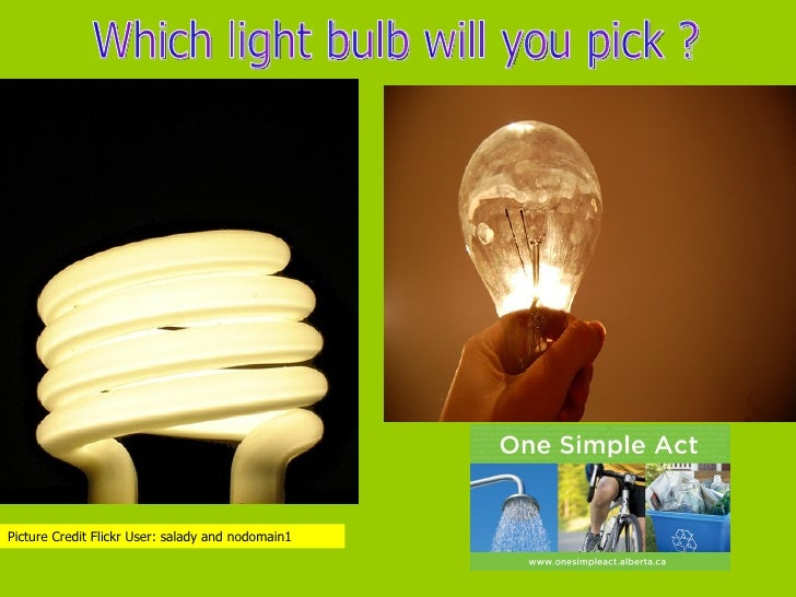 Which light bulb will you pick ? Picture Credit Flickr User: salady and nodomain1
