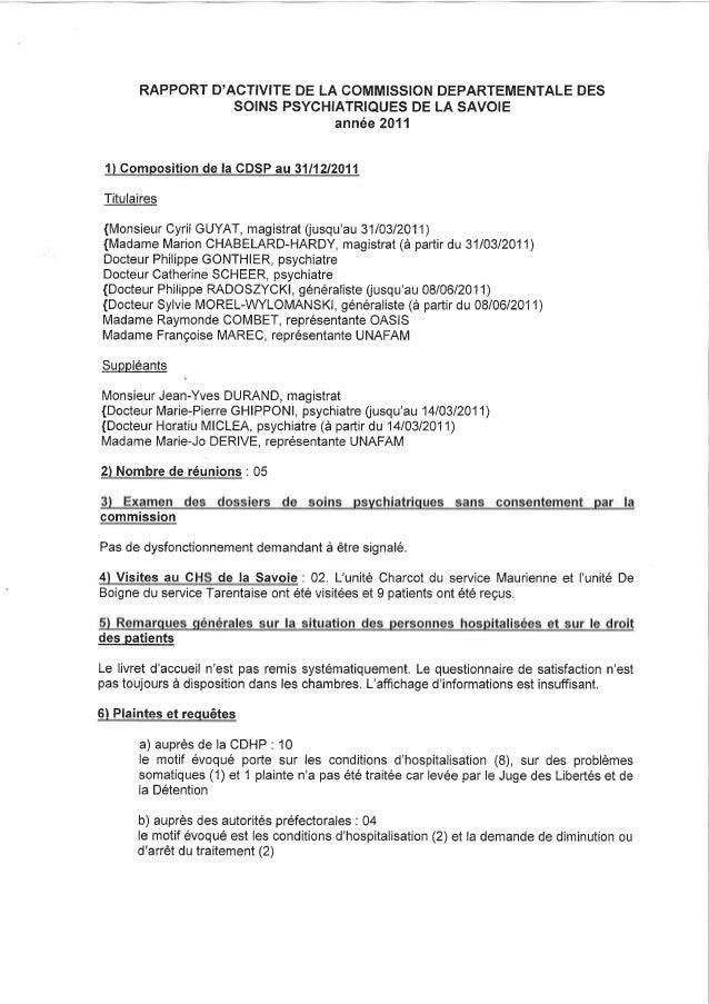 73 rapport activité cdsp 2011