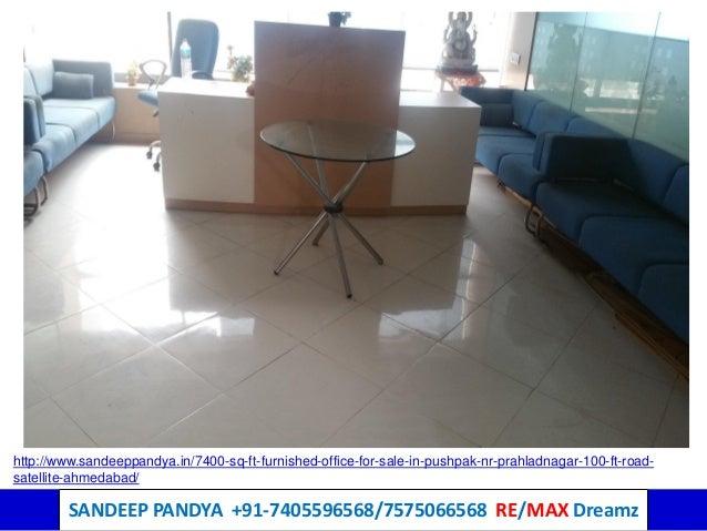 sq ft furnished office for sale in pushpak prahlad nagar nr sg ru