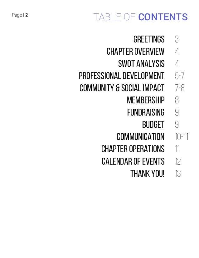 University of Washington, 2015_2016 Chapter Plan