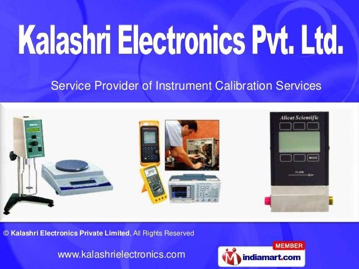 Service Provider of Instrument Calibration Services<br />