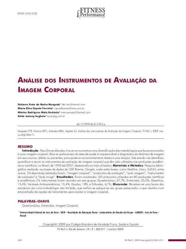 EISSN 1676-5133ANÁLISE DOS INSTRUMENTOS                                                             DE       AVALIAÇÃO    ...