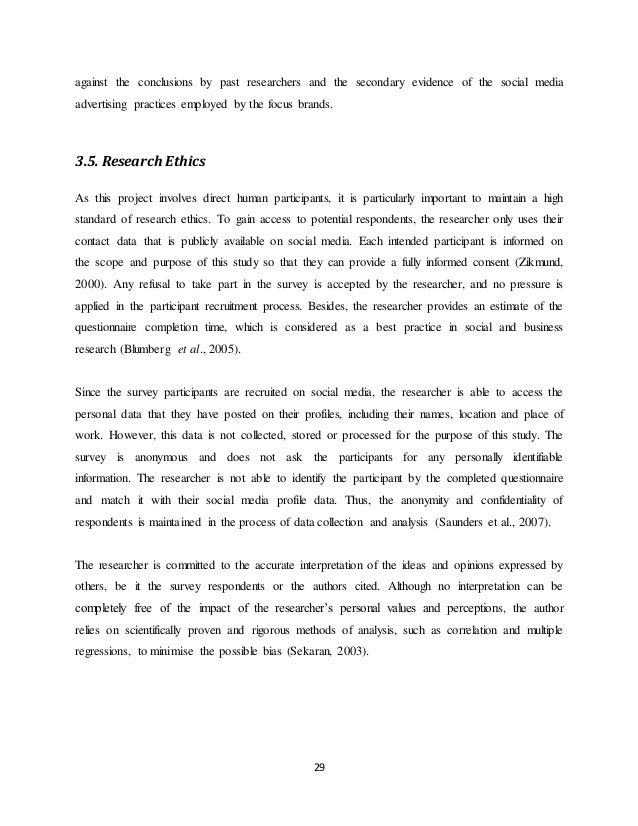 Dissertation report on advertisements
