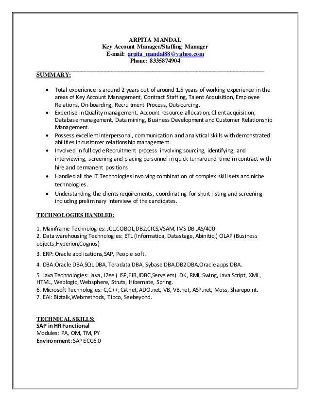 sybase dba resume