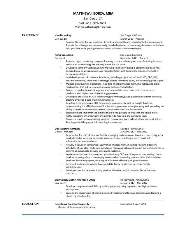 resume update july 30 2015