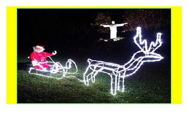 Weihnachtsbeleuchtung Schlitten Rentiere.Xxxl Led Magic Set Rentier Schlitten Xl Weihnachtsmann 210cm Lang 43