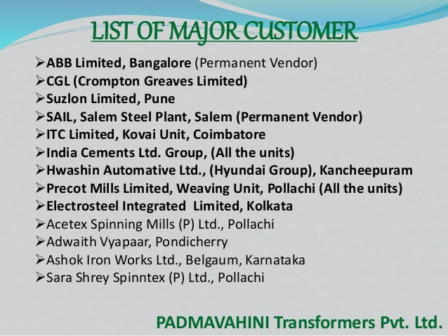 Distribution Transformers by Padmavahini Transformers Private Limited…