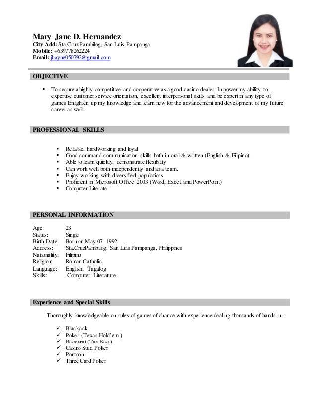 Resume Jhayne 1