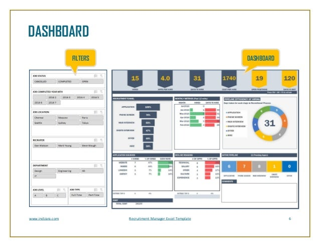 RecruitmentManagerExcelTemplateVBrochure - Recruitment dashboard excel template