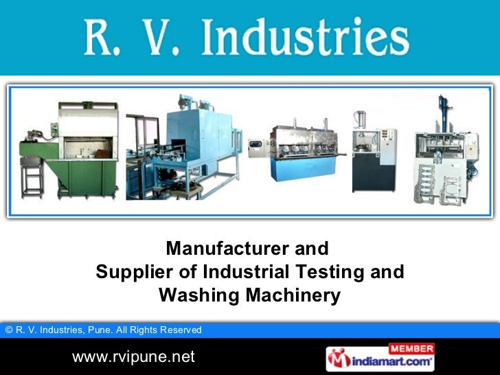 Manufacturer and  Supplier of Industrial Testing and Washing Machinery