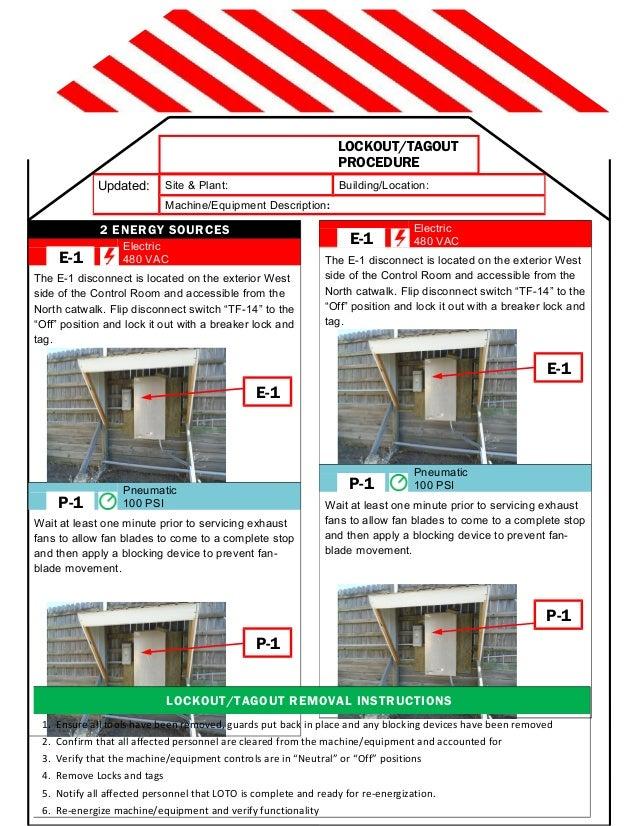 Ben Version 2-page LOTO Procedure TEMPLATE
