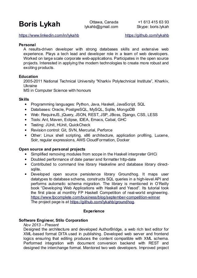 boris lykah resume