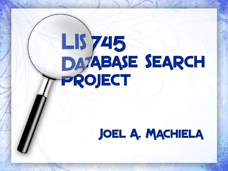 745 research presentation