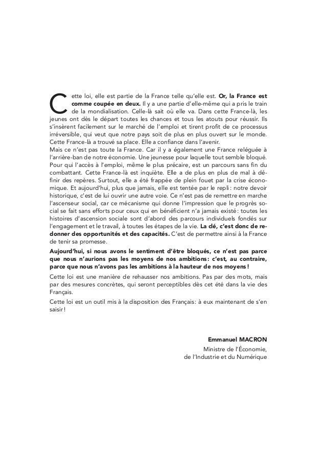 Mise en oeuvre de la loi macron for Mise en oeuvre beton cire