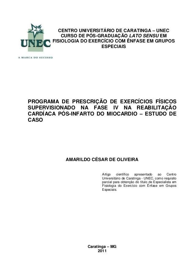 PROGRAMA DE PRESCRIÇÃO DE EXERCÍCIOS FÍSICOS