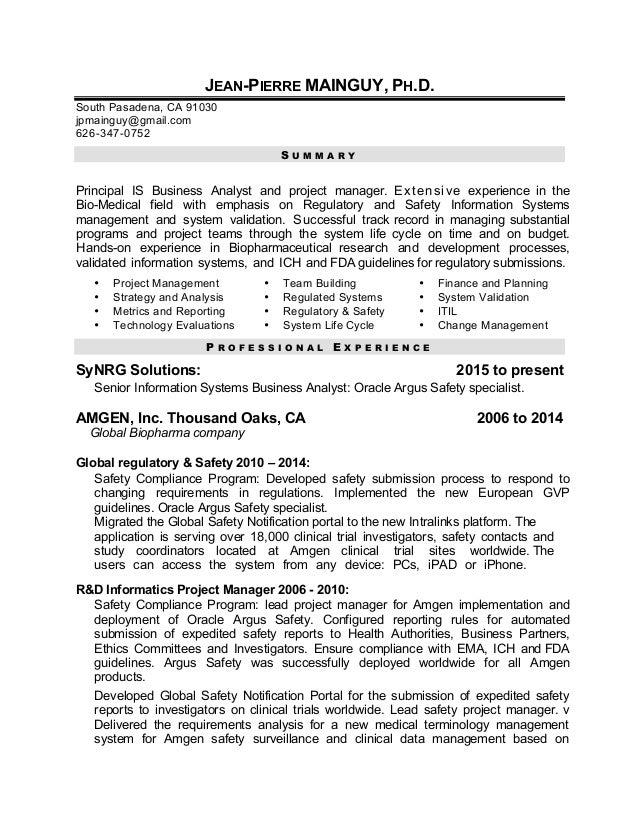 JP Mainguy Resume 2015